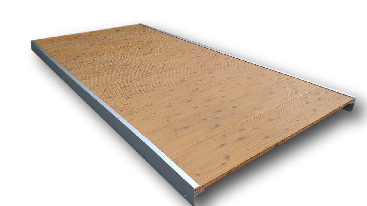 FAUX WOOD GRAIN ALUMINUM DOCK SECTIONS