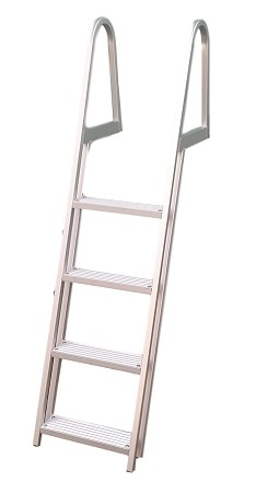 4 Step Anodized Aluminum Ladder