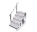 5-Step Stairs With One Handrail