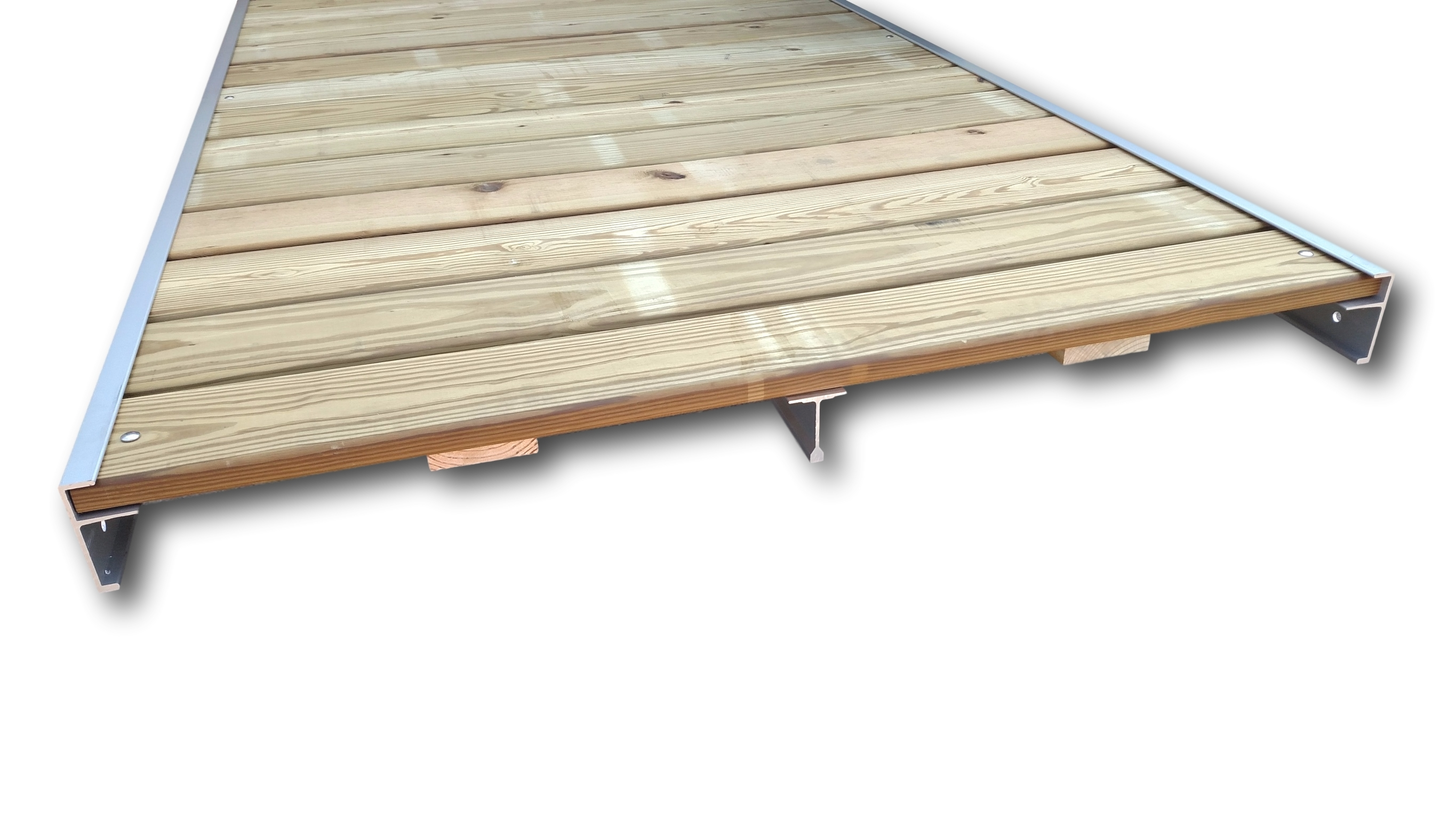 10X4 Pine Dock Section