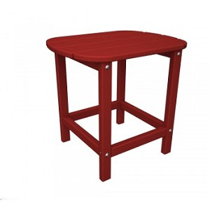"South Beach 18"" Side Table Sunset Red"