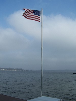 20' Flagpole For Your Dock